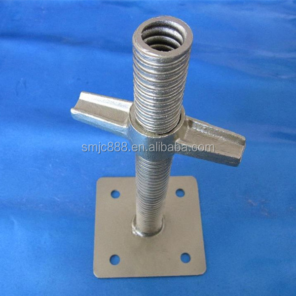 Adjustable Screw Jack with Swivel Base Plate For Ringlock Scaffolding System
