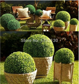 High Quanlity Green Artificial Topiary Grass Ball For Garden Park  Decoration Plastic Topiary Balls
