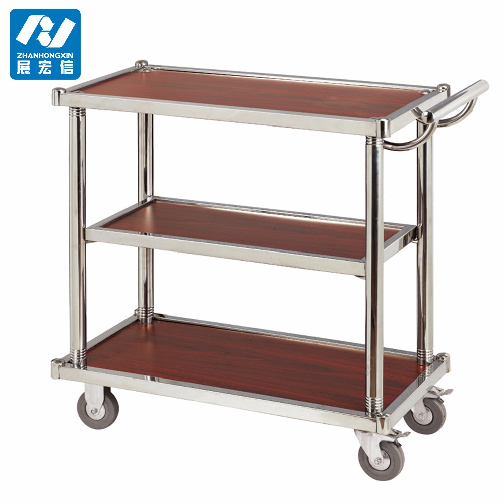 Wood Serving Cart ~ Hotel wooden tea serving carts trolley buy