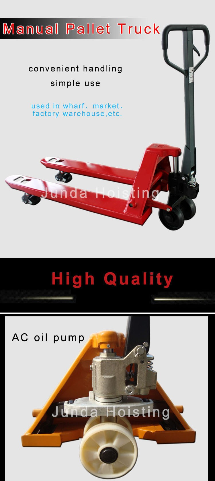 2/2.5/3/5 T Low Price 1200*685/1150*550 Fork Hydraulic Lifting Hand Operated Pallet Truck