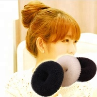 Factory Wholesale Price Black Brown Beige Nylon Hair Donut Bun for Girls Hair Styles Making Tools