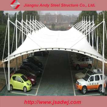 High Quality cable membrane structure steel car canopy & High Quality Cable Membrane Structure Steel Car Canopy - Buy Car ...