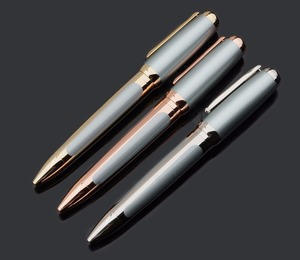Promotion metal material custom logo rose gold parker jotter pen for gift