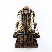 Z31115A Fashion autumn women's printed loose dress