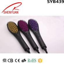 SYB439 China Shenyuan PTC Heating Hair Straightener Comb Straightening Brush
