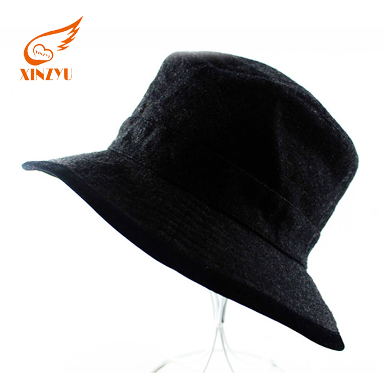 Wholesale winter fishing grizzly bucket hat high quality wool funny bucket  hat 98fd19a3bd3