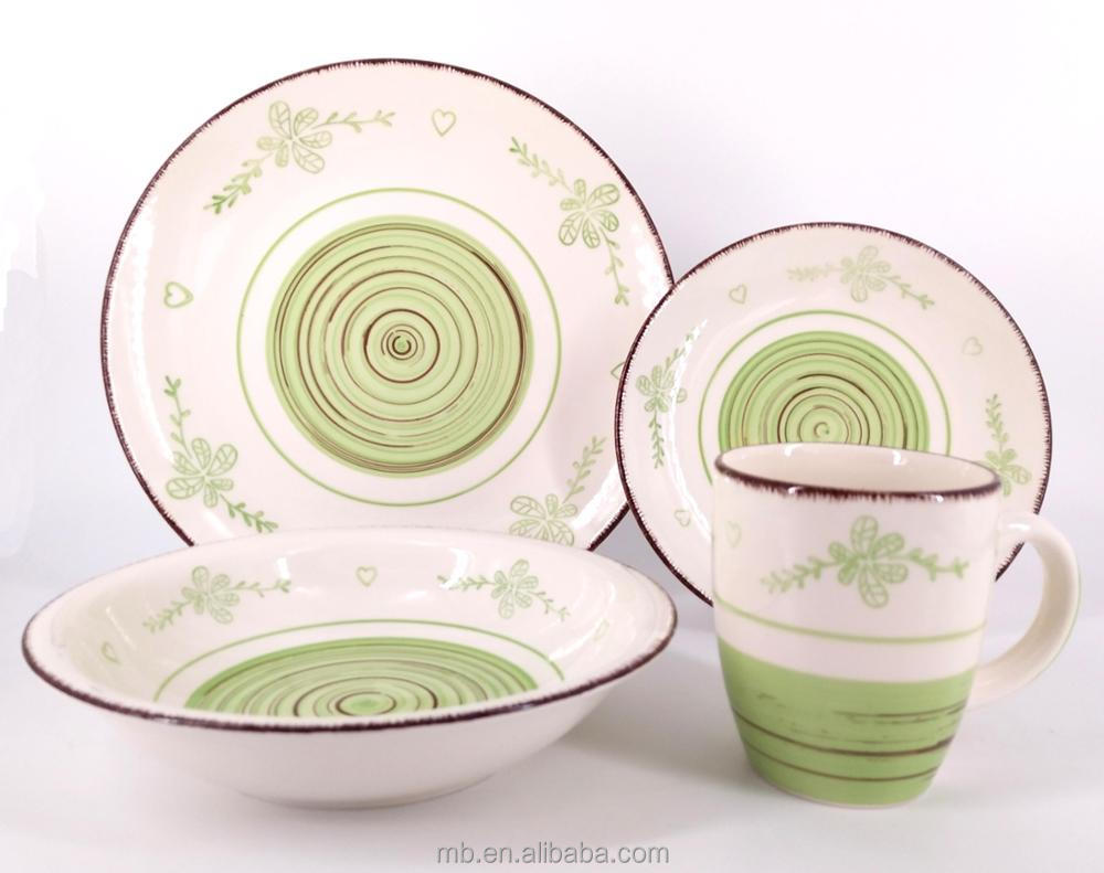 ceramic super white stoneware hand painted dinner set brand new design for Frankfurt fair