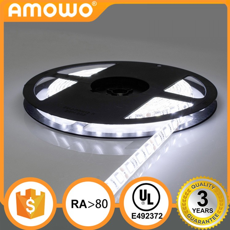 DC12V 24V Ra80 60leds 14.4W 5050 UL Listed LED strip with UL