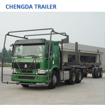 Sinotruk Howo 6x4 Log Transporting Tractor Truck Exported