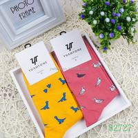 Wholesale girl tube socks with small animal cute design