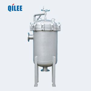 Stainless steel multi cartridge filter housing for industrial circulating water