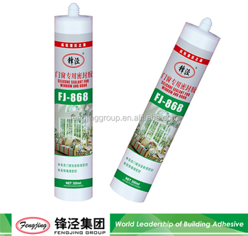 100% silicone water proof silica sealant clear