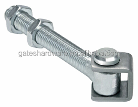 Galvanized adjustable gate Hinge with long bolt nut and u bush