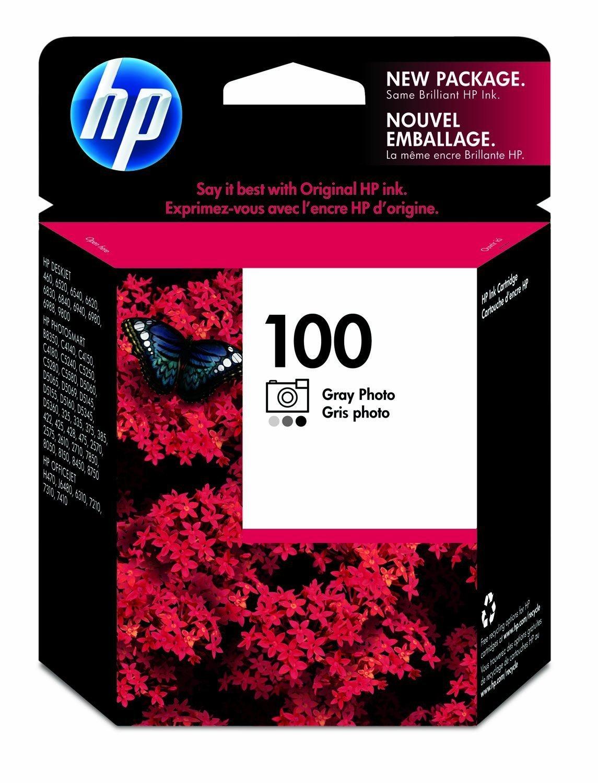 HP 100 Gray Photo Original Ink Cartridge (C9368AN)