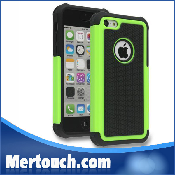 Free <strong>DHL</strong> shipping for iphone 5C football skin case with hard PC + silicone combo back cover mobile phone case wholesale price