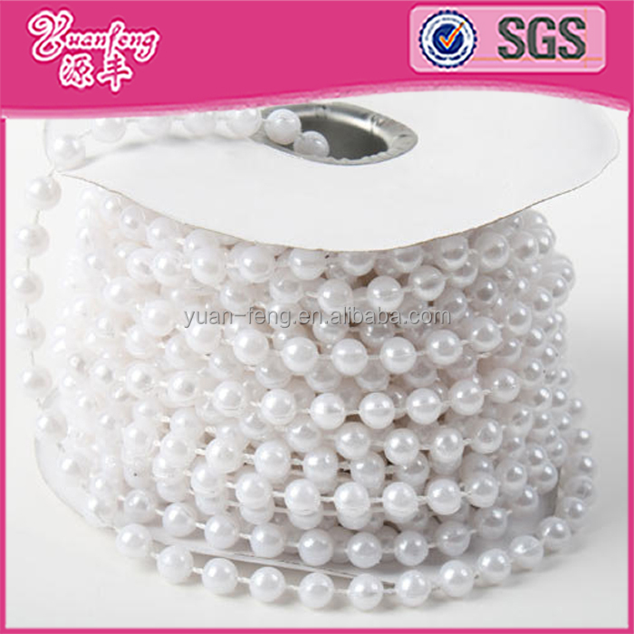 Wholesale 6MM ABS Plastic Pearl Bead Curtain String Roll