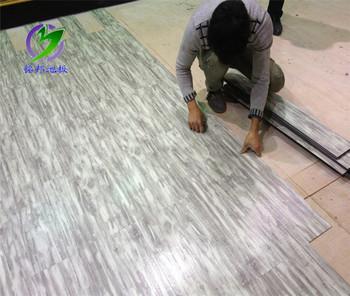 Vente chaude luxe vinyle clic plancher plastique pvc for Plancher exterieur plastique