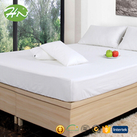 luxury 300T 100% Egyptian Cotton hotel bedspread set flat sheet
