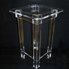 DDH-T050 ISO9001 Chinese Manufacture Produce SGS Test Clear Acrylic Flower Pot Pedestal