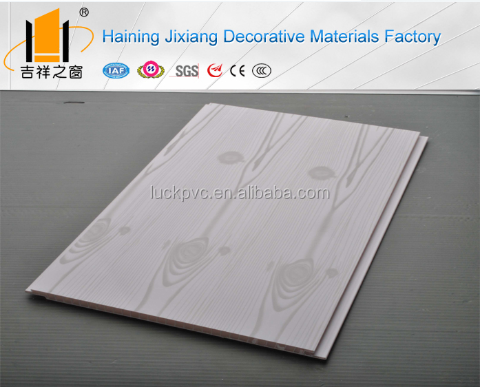 Building material PVC panels ceiling tile type printing wood pattern