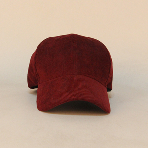 Red plain baseball cap 6panels and adjustable buckle
