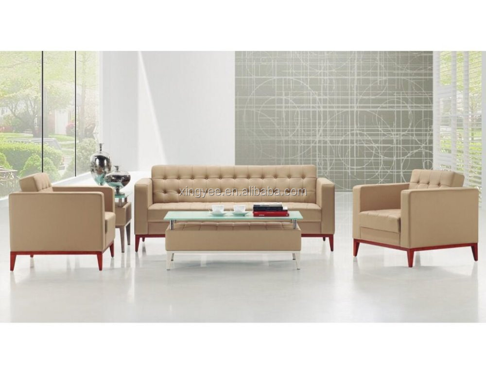 Modern l shaped office furniture 6 seater sofa set genuine leather corner sofa home living room sectional sofa set