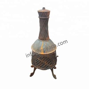 Cast Iron Fire Pit With Chimney