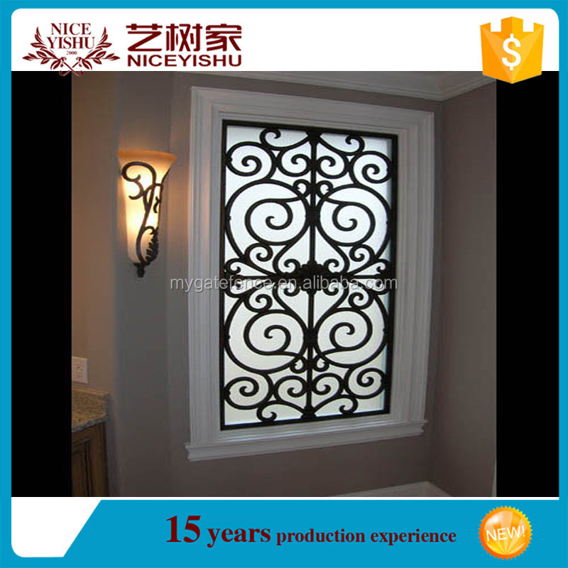 Modern Trendy Wrought Iron Window Grill Design 5