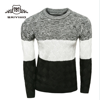 Winter Long Sleeves Hand Made Color Matching Design Boys