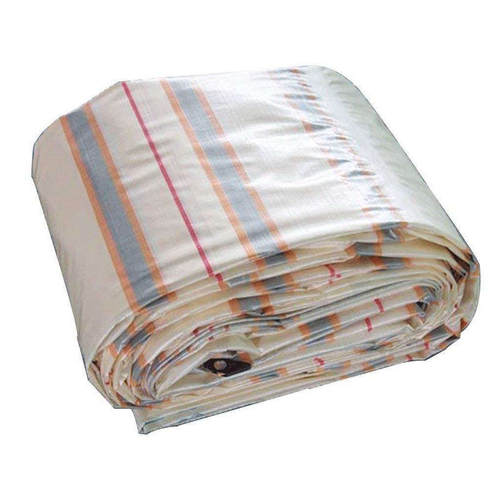 COZY HOME AAA Striped Tarpaulin, Environmental Protection polyethylene Canvas dust-Proof Shade rain-Proof Sun-Heat Insulation Outdoor Camping Cover Cloth Picnic mat Tarpaulin Travel Spare