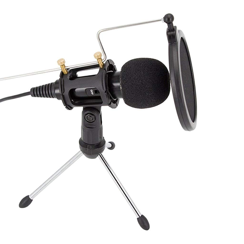 Homyl Professional Condenser Microphone Plug&Play Home Studio Mic for PC Computer Voice Recording Podcasting