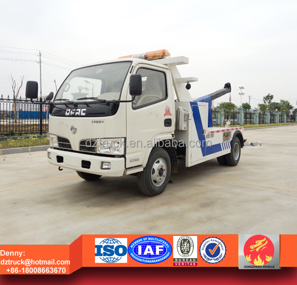 Dongfeng 4X2 towing mini car wrecker truck