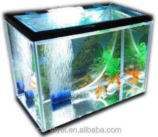 Fish & Aquariums Glorious Mini Aquarium Usb Led Light Lamp Clear Fish Tank Box Feed Desktop Decoration Selected Material