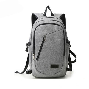 Canvas Backpack 15.6 inch Waterproof Laptop Backpack for Men Women External USB Charge Port Computer Bag