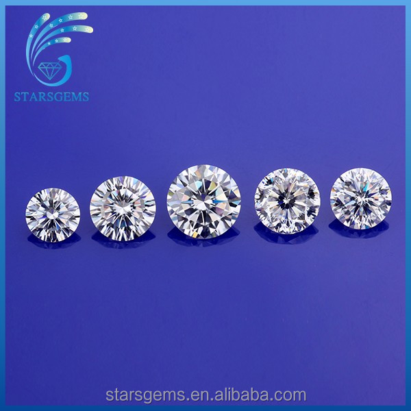 lab created synthetic moissanite diamond,round various sizes available white loose moissanite gem