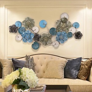 Handmade modern design round tree flower metal art wall decoration