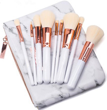Marble Professional Makeup Brushes Set Rose Gold Eye Shadow Eyebrow Lip Eye Make Up Brush Set Cosmetic Tools