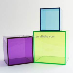 Transparent Colored Acrylic Decorative Storage Box