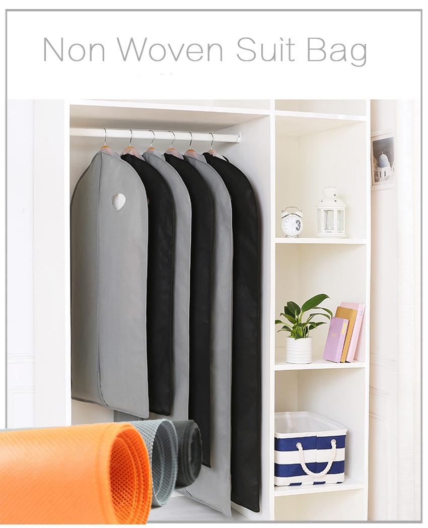 Customize non woven travel garment suit bag cover/Foldable Non Woven Clothes Garment Suit Coat Dust Cover