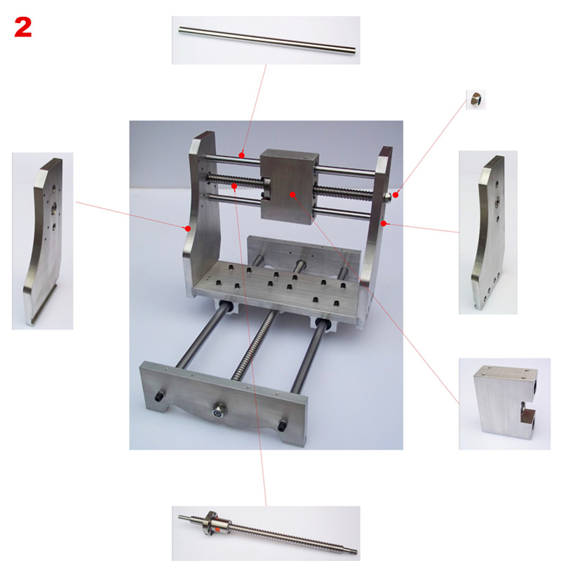 Woodworking Machinery & Parts Mini Cnc Engraving Machine Parts 6040 Lathe Bed Frame With Ball Screw Diy Cnc Frame 6040 For Cnc 6040 Milling Machine