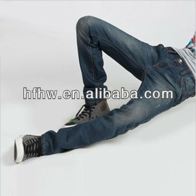 Men's han edition cultivate one's morality straight cut jeans