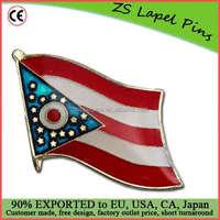 Free artwork fee custom quality Ohio Flag Lapel Pin