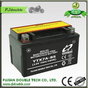 Green motorcycle lead acid sealed 12v7ah battery in good quality