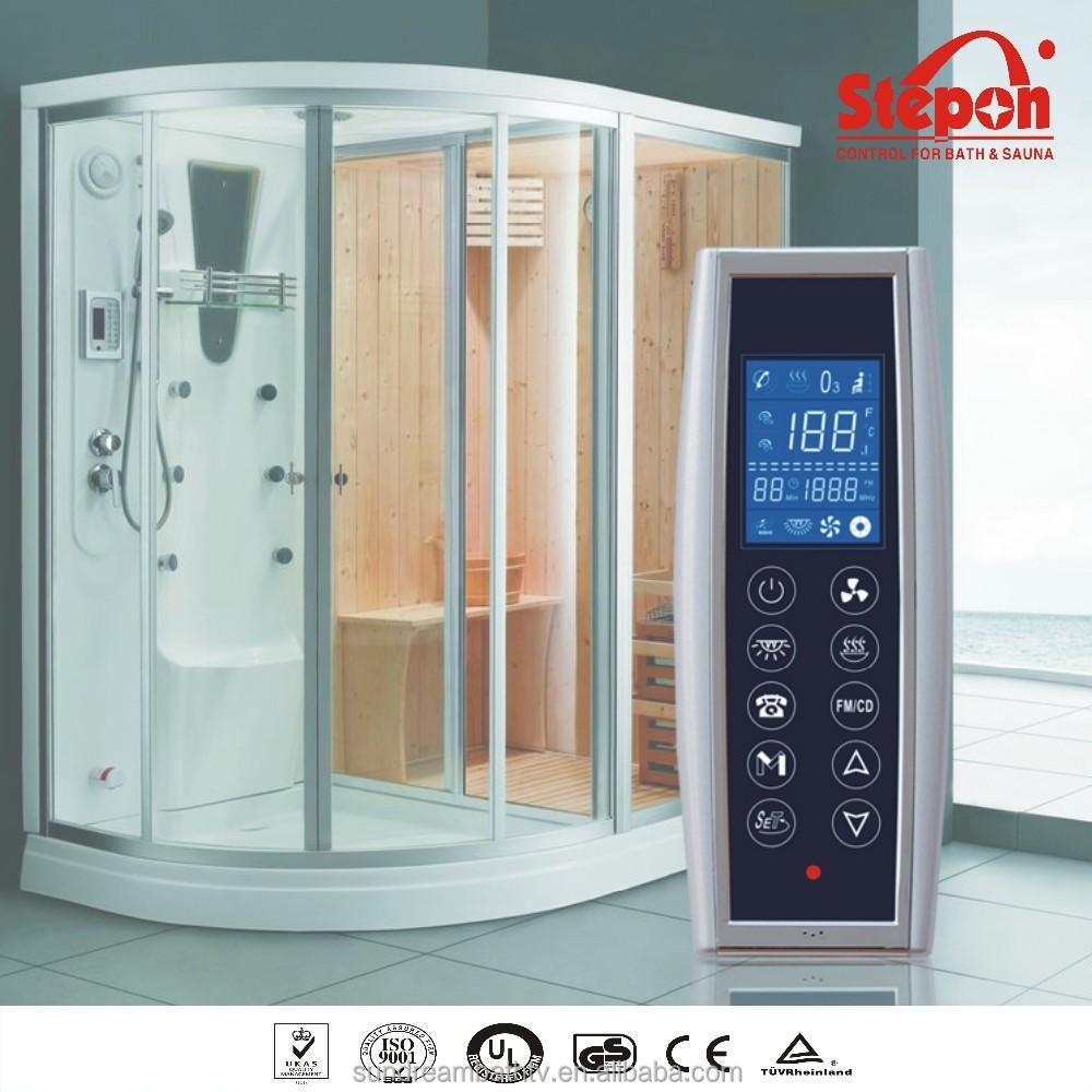 cabina de ducha de vapor inteligente controla