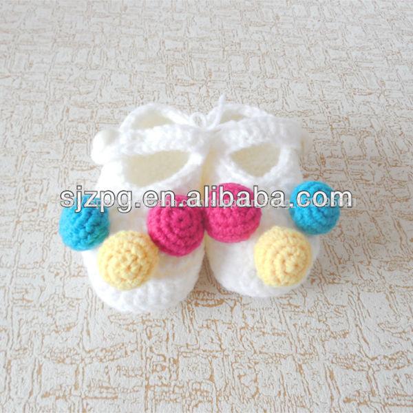 venta al por mayor de moda crochet tejer zapatos de recién nacido ...