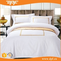 4 Piece King Blue Embroidery Soft Cotton Comforter Bedding Set