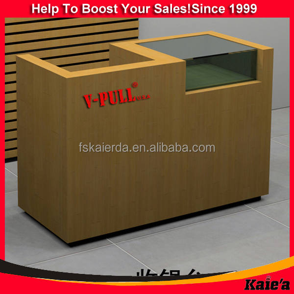Wood cash counter design