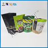 Custom white mylar bags aluminum foil packaging 4oz coffee bags with heal seal