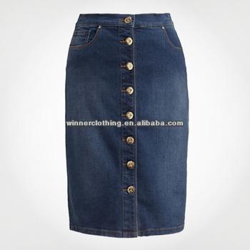 dc79ee362 Las Mujeres Elegante Botones Jeans De Moda Falda - Buy Moda Jeans  Falda,Hermoso Diseño Faldas Largas,Último Diseño De Falda Larga Product on  ...