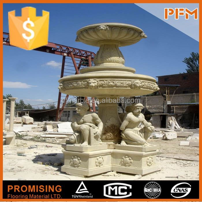 hot sale natural well polished hand carved natural basalt stone fountain